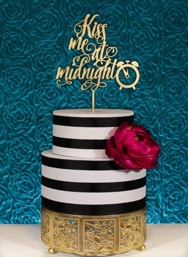 New Years Wedding Cake Topper Kiss Me At Midnight 2631492 Weddbook