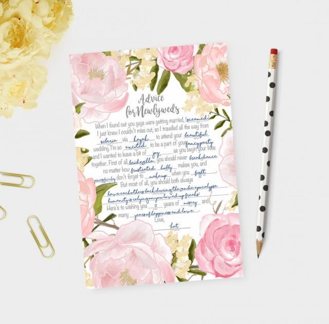 Wedding Vow Mad Libs Printable: Wedding Mad Libs, Wedding Madlibs, Madlib Cards, Advice