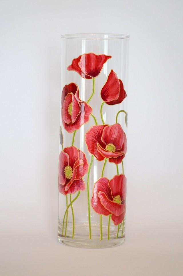 Wedding Gift For Friends Hand Painted Vase Flower Home