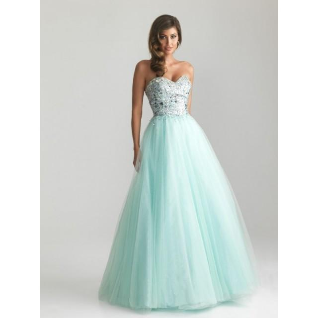 Night moves 6669 tulle ball gown prom dress crazy sale for Night dresses for wedding night