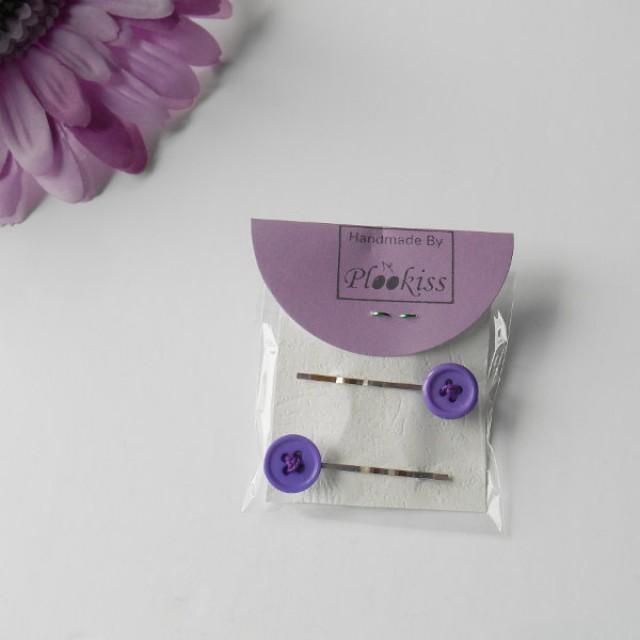 Purple Hair Sticks Button Pins Girlfriend Birthday Gift Crafty Best Friend Token Playful Accessories For Girls Bridal Wear Women