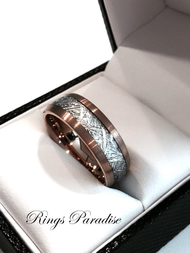 Rose Gold Engagement Ring Sandblasted
