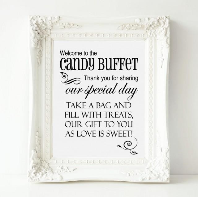 Welcome To The Candy Buffet Wedding Sign Printable Wedding
