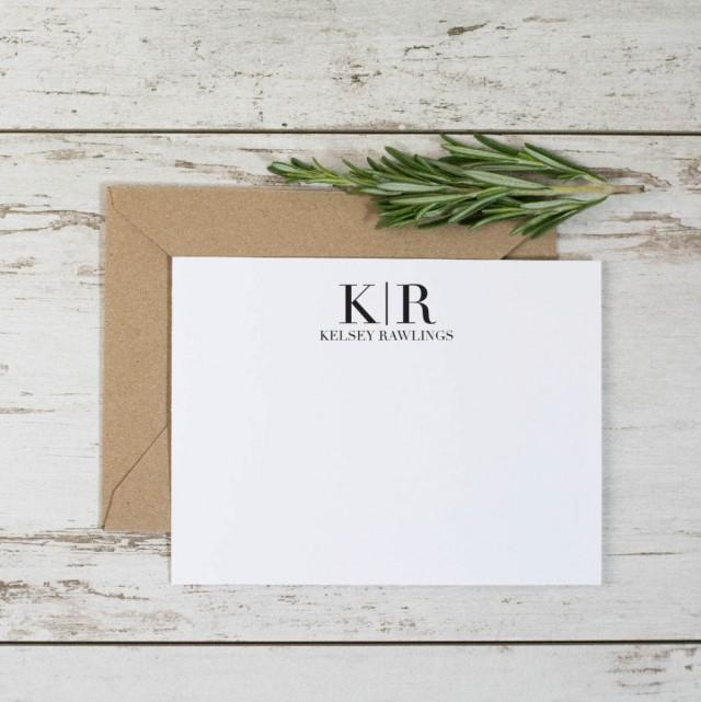 initial thank you cards 8pk monogram thank you notes personalized