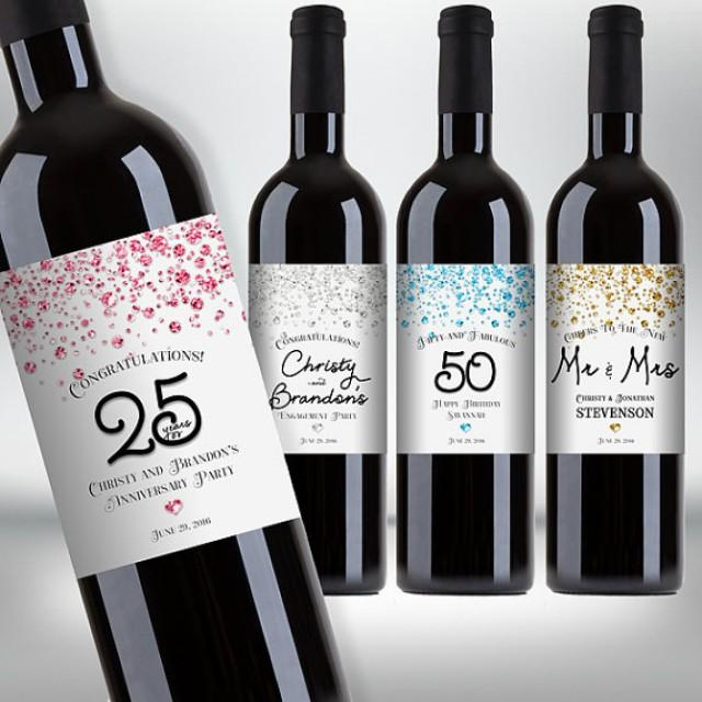 6 Printable Wine Bottle Labels for Special Occasions
