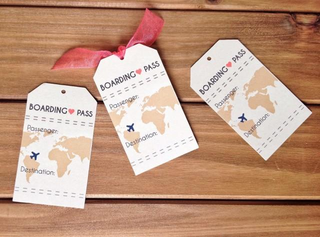 instant download boarding pass travel wedding theme place