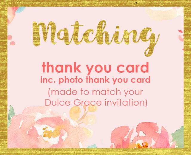 Thank you card printable thank you note made to match any thank you card printable thank you note made to match any dulcegraceprintables invite 2638233 weddbook m4hsunfo