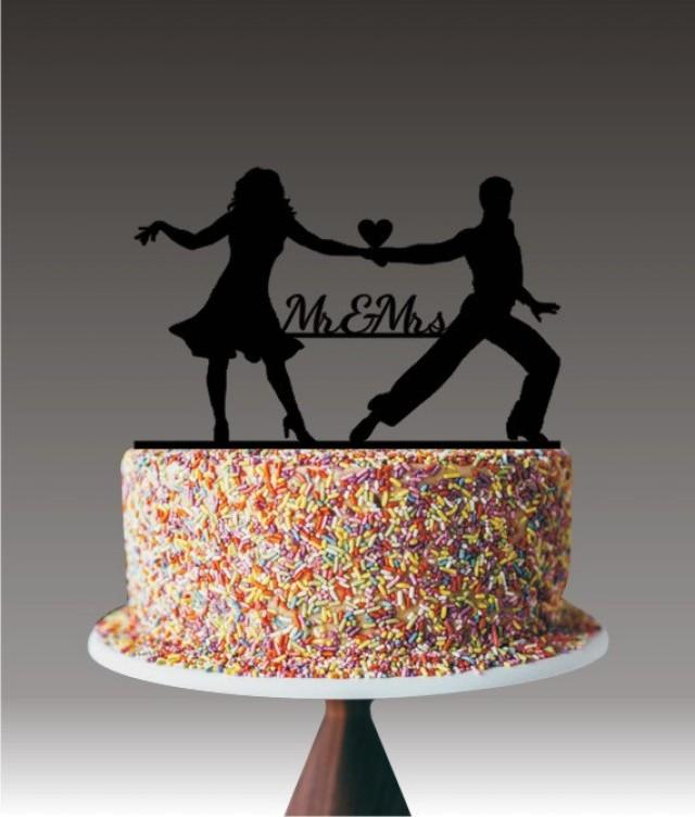 Unique Wedding Cake Topper, Dancing Couple Mr And Mrs Cake ...