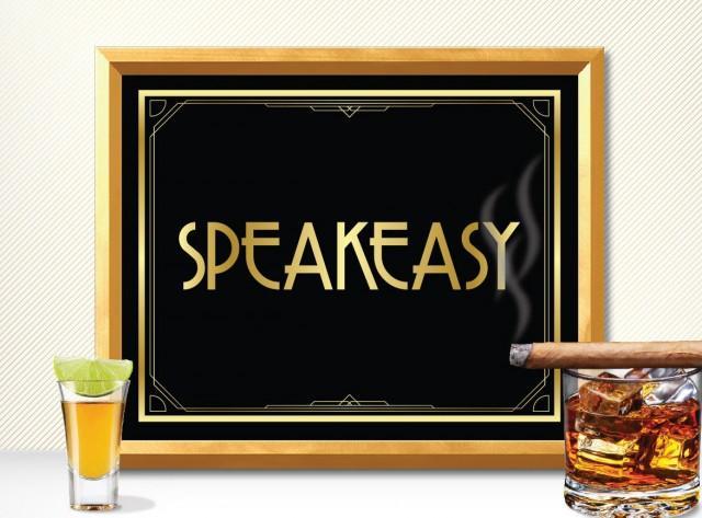 Printable Speakeasy Sign Art Deco Great Gatsby 1920 S