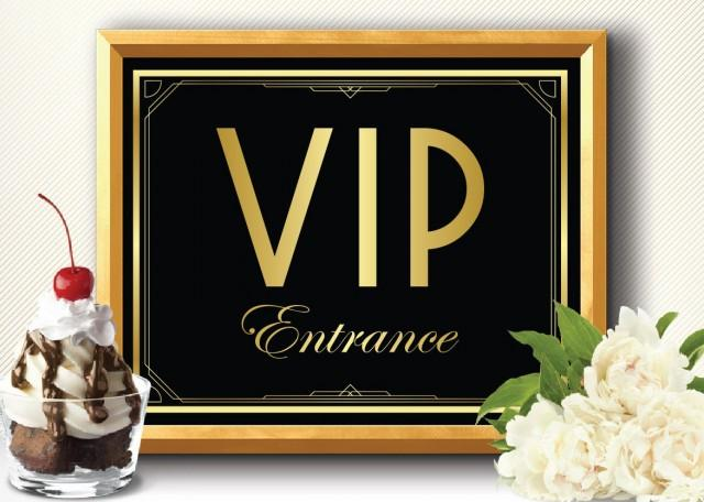 printable vip entrance sign