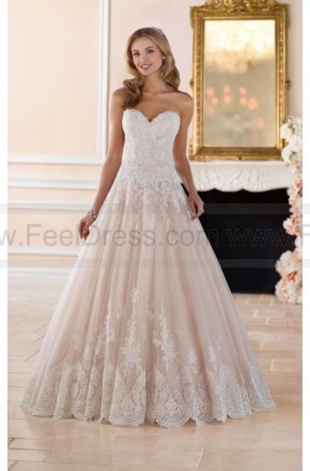Stella York Romantic Ball Gown With Scalloped Lace Edge Style 6385 ...