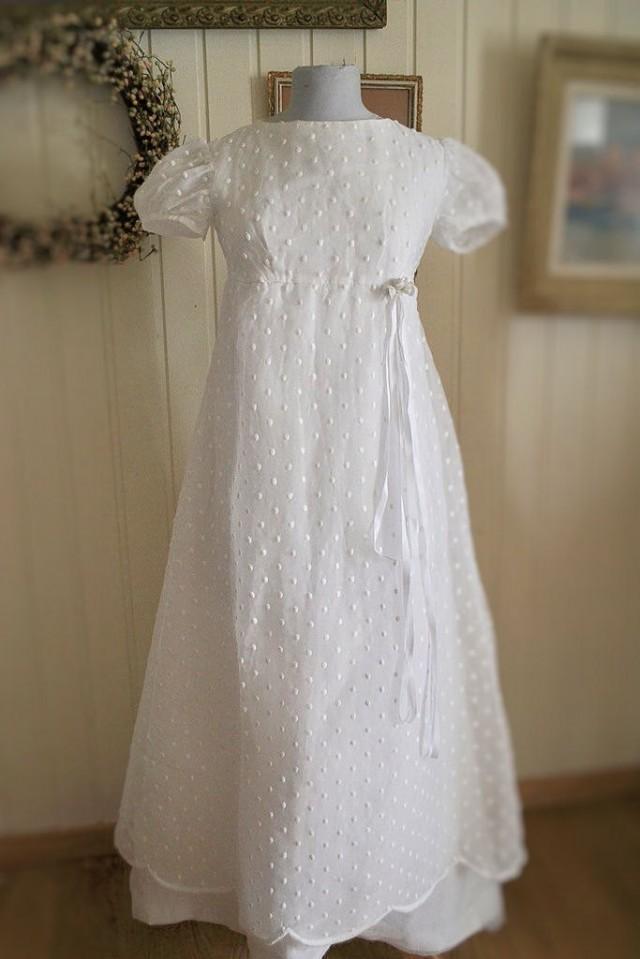 Vintage French Wedding Dress, 1960s, Organdy #2642860 - Weddbook