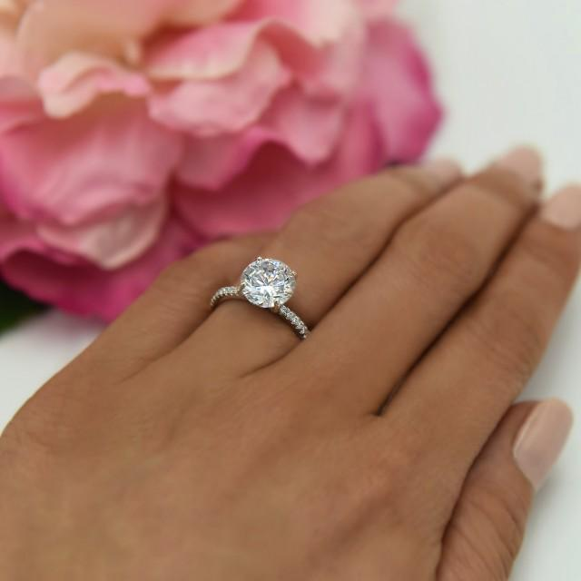 2 Carat Flawless Diamond Engagement Ring