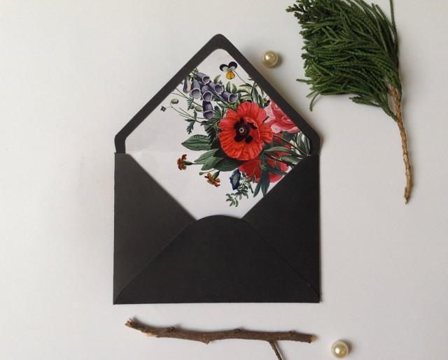 Envelope Liner Template Vintage Botanical Floral A6 A7 Sizes DIY Botanic 2643718