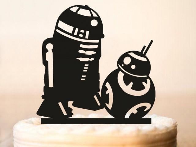 R2d2 Amp Bb8 Cake Topper Star Wars Wedding Cake Topper Star