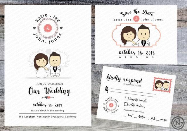 Portrait Wedding Invitation (White) Printable Invites