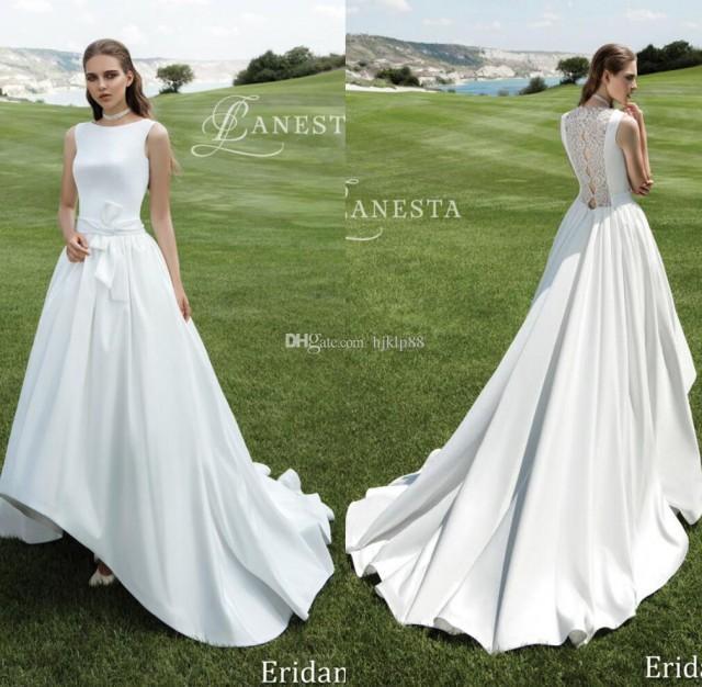2017 High-low Short Front Long Back A-Line Wedding Dresses