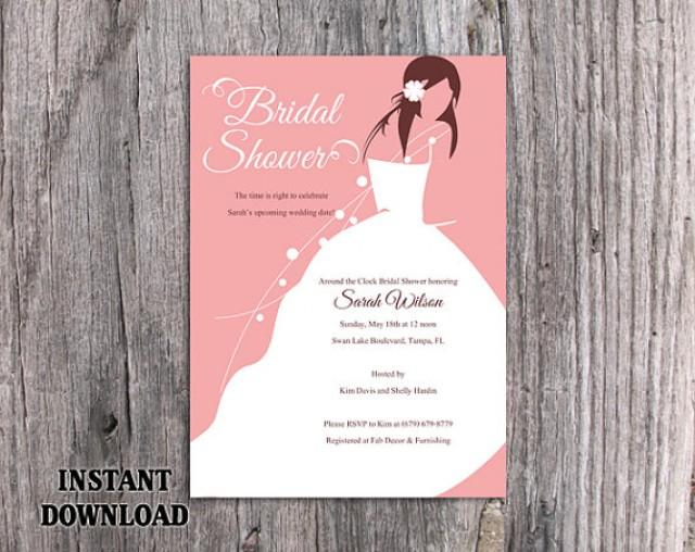 graphic regarding Free Printable Bridal Shower Invitation Templates for Word referred to as Do-it-yourself Bridal Shower Invitation Template Editable Term Document