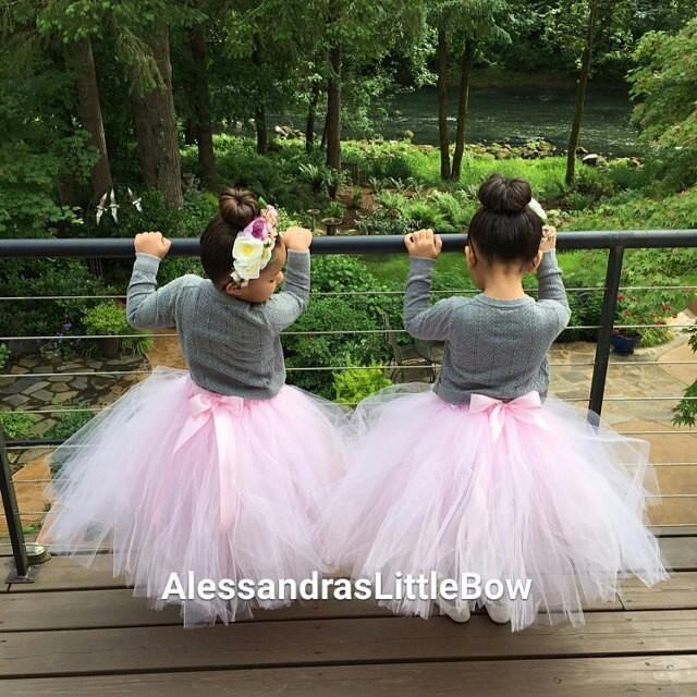 Flower Girl Tutu Skirt Floor Lenght Tulle Long Girls Tutus Custom Dress Toddler Tea Party 2651022