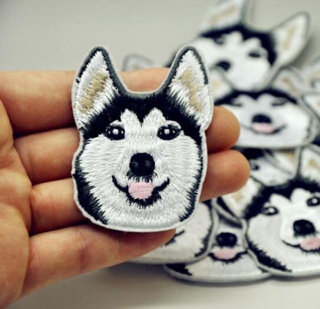 Iron on Husky Dog Alaska Patch