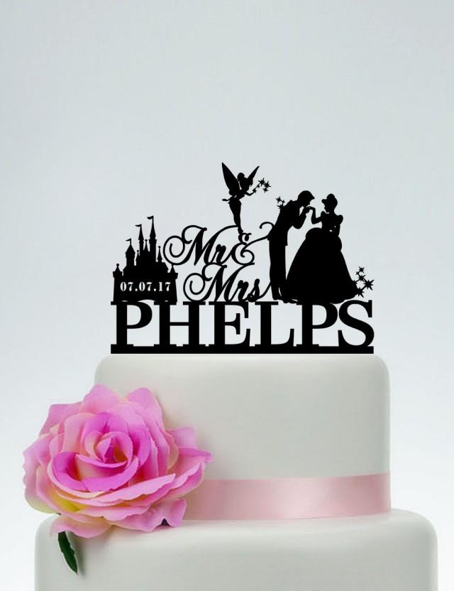 Disney Wedding Cake TopperMr And Mrs Cake Topper With Surname