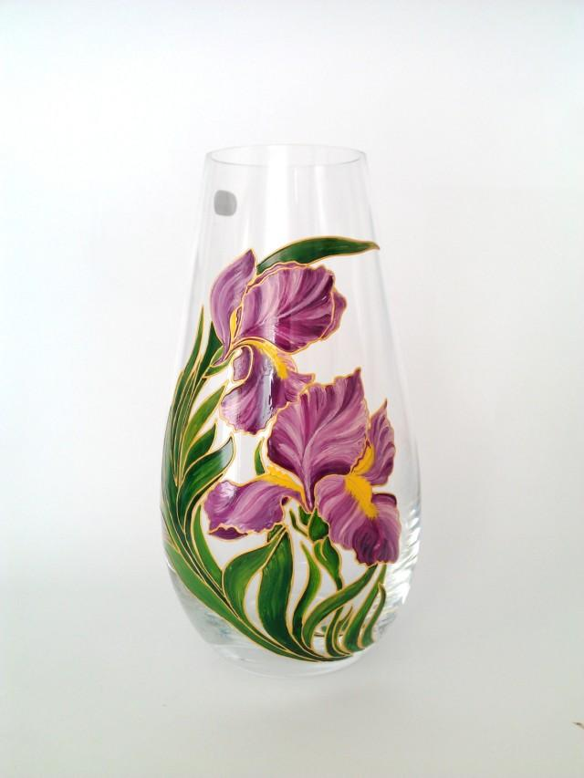 Mom Gift Hand Painted Flower Vase Living Room Decor Gift For Sister
