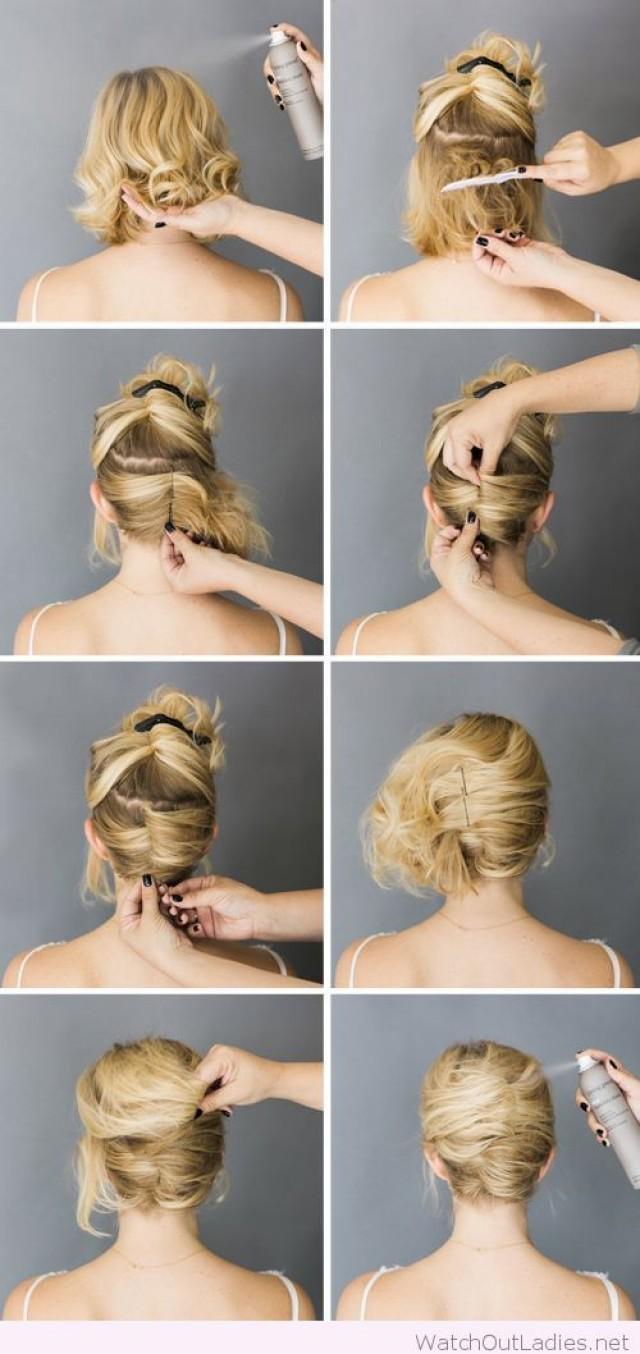 Причёска своими руками на короткие волосы видео
