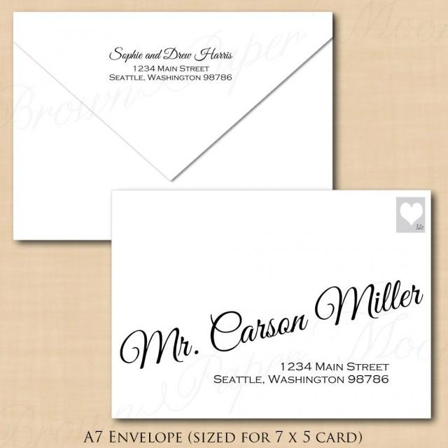 Change All Colors! Calligraphy Address Wedding Envelope Template