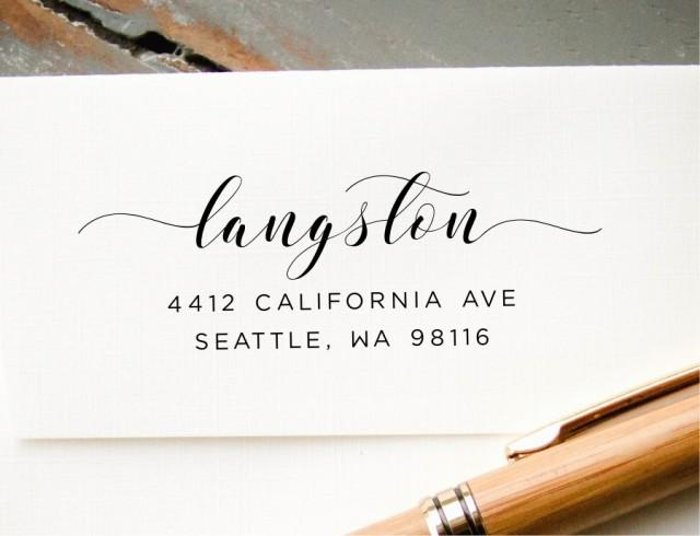 Calligraphy Address Stamp Wedding Stationery Hand Lettered