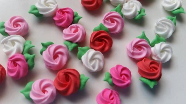 Mini Valentine S Day Royal Icing Rosettes Pink White Red