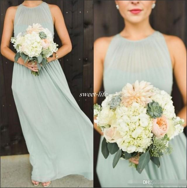 Bridesmaid Elegant Sage Green Chiffon 2654596 Weddbook