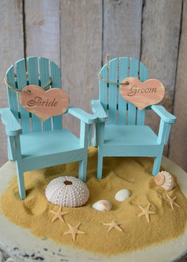 Brilliant Beach Chairs Beach Wedding Cake Topper Bride Groom Chairs Gamerscity Chair Design For Home Gamerscityorg