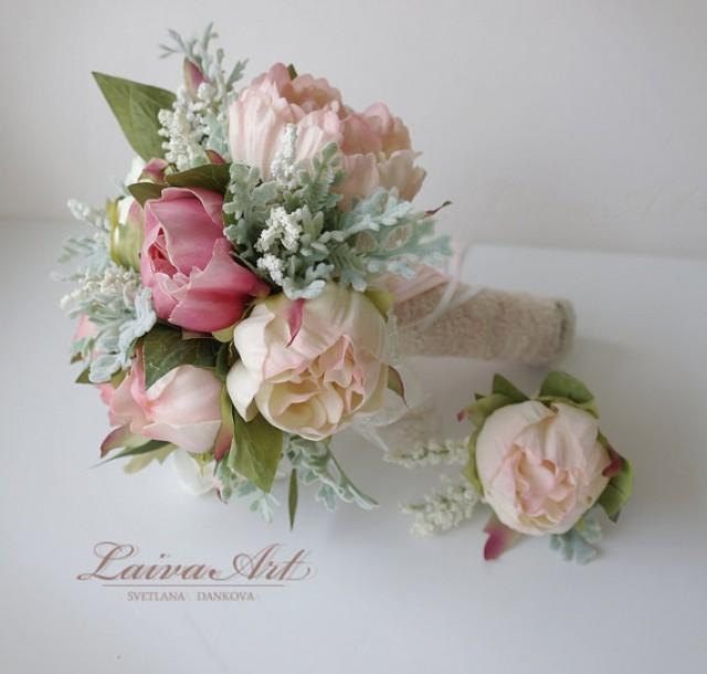Wedding Bouquet Bridal Bouquet Small Peony Bouquet Peony