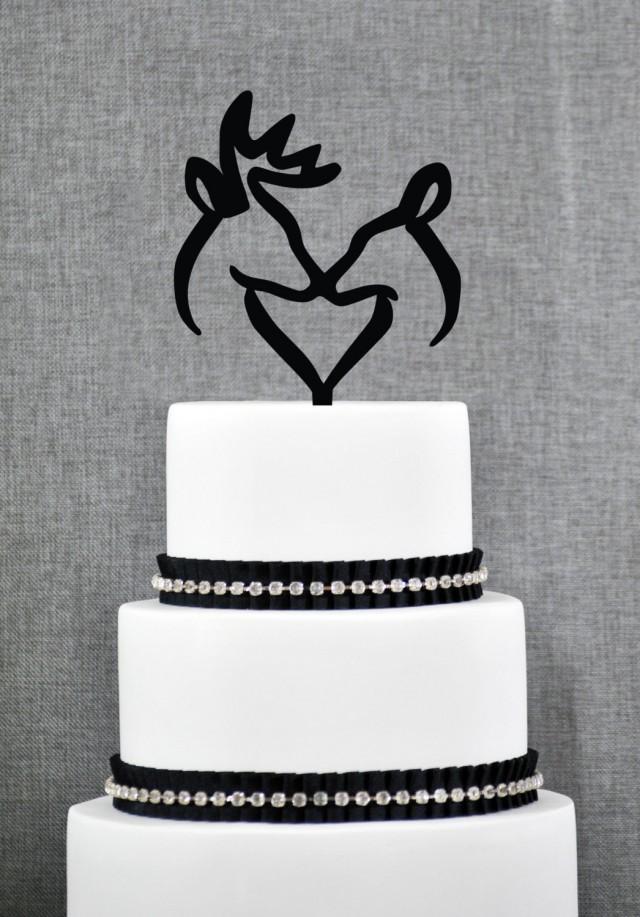 Buck And Doe Heart Wedding Cake Topper Romantic Deer Cake Wedding