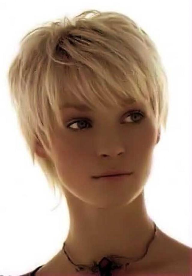Short With Natural Ash Blend Hair Color