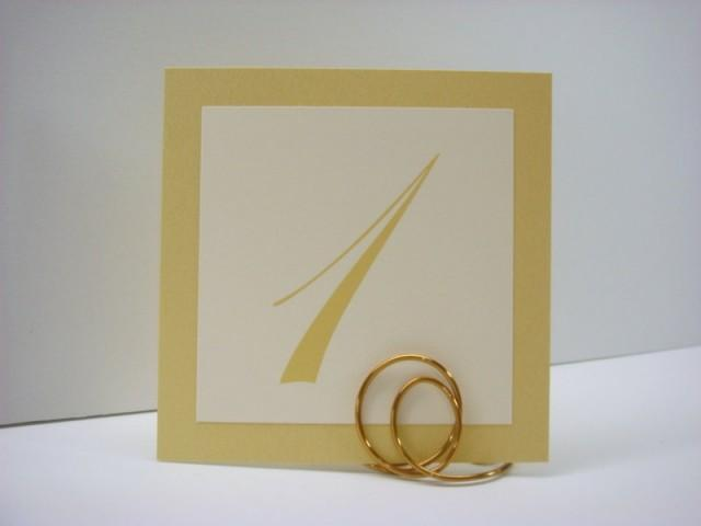 Gold Table Numbers Wedding Decor Shimmery Gold Backing And Script ...