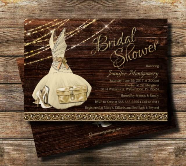 country bridal shower invitation rustic theme rustic glam bridal shower wedding shower invite high heel invite bridesmaid dress 2660025 weddbook