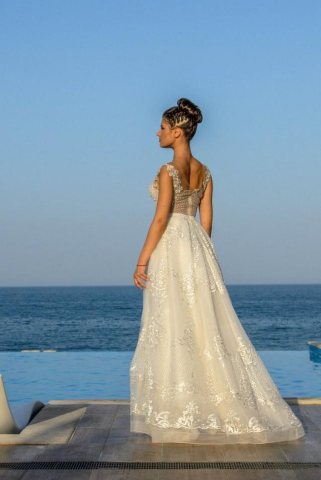 Modern Vintage Wedding Dress In Style, French Wedding Dress With ...