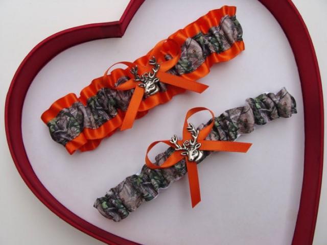 382cc6aaf7c7b Wedding Garters Mossy Oak Orange Camouflage Camo Set Keepsake Toss ...