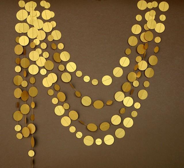 Wedding Garland Gold Paper Decor Decoration Golden Decorations P C 0002 2662767