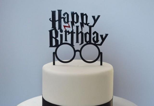 Happy Birthday Harry Potter Inspired Cake Topper 2663375