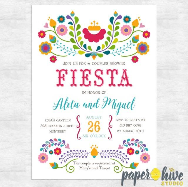 Fiesta Invitation / Fiesta Couples Shower Invitations / Engagement Party Invite / Printable