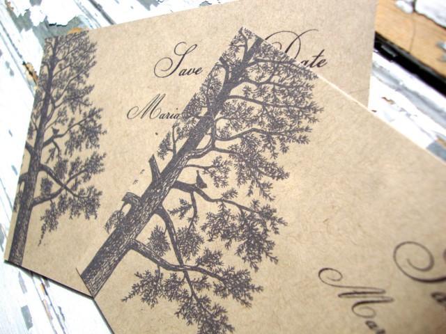 Rustic Save The Date Fall Wedding Postcard Eco Friendly 2666074 Weddbook