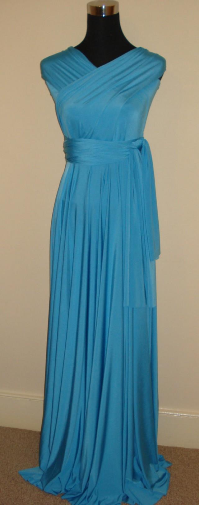 Turquoise Bridesmaid Dress Wedding Dress Infinity Dress Convertible ...
