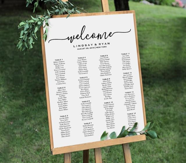 welcome wedding seating chart sign printable seating plan poster