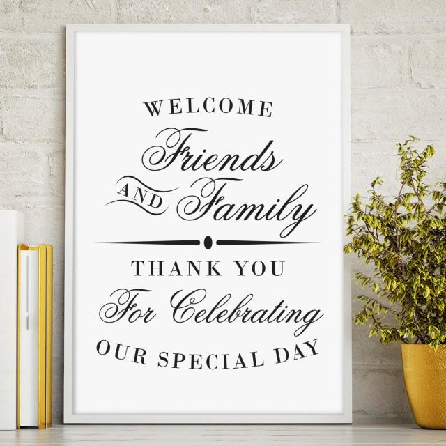Printable Welcome Sign, Wedding Reception Sign, Welcome