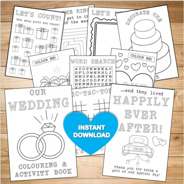 Kids Wedding Colouring Activity Book
