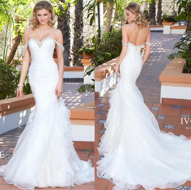 New Arrival 2017 Sexy Sweetheart Wedding Dresses Beaded