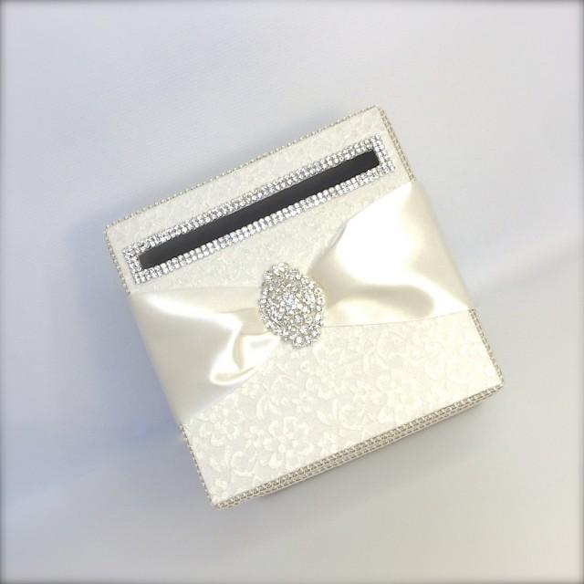 Ivory Lace Wedding Card Holder Wedding Money Box Custom Card Box