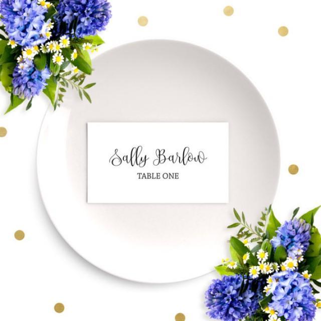 wedding place cardschic calligraphy escort cardsdiy